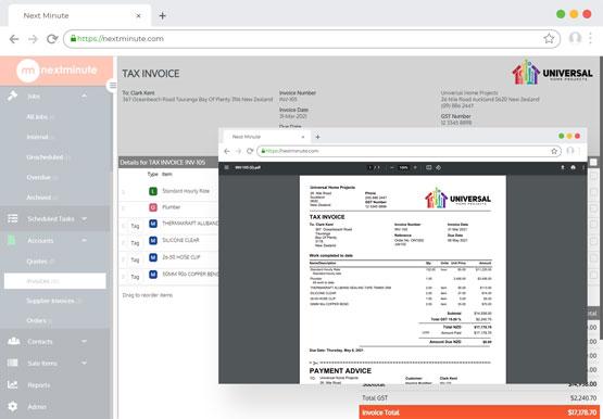 Invoicing on desktop