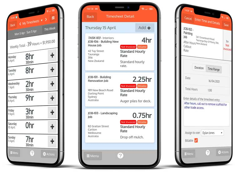 Timesheets on the go